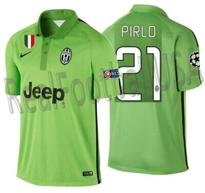 63ac6dfd3 NIKE ANDREA PIRLO Juventus Uefa Champions League Third Jersey 2014 ...