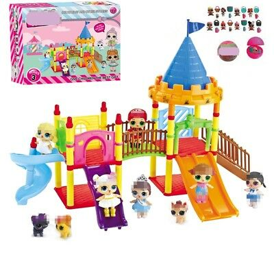 DOL LOL Surprise Doll Park House Game Slide Playset Baby Girls Kids Gift Toy UK