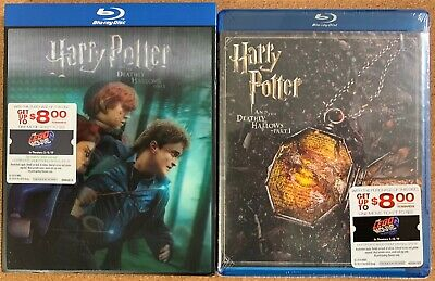 New Harry Potter Year 7 Pt1 Bluray 2 Disc Walmart Exclusive Lenticular Slipcover