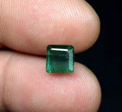 2.25 Cts.100% Natural Zambian Emerald 7*7*5 mm Octagon Cut Loose Gemstone