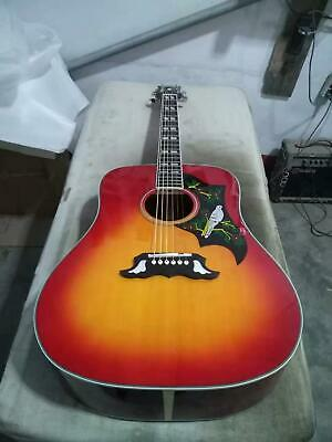 3Dove 41'' Electric Acoustic Guitar Cherry Finish Solid Spruce Bird Pickguard