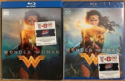 New Dc Wonder Woman Blu Ray + Rare Walmart Exclusive Lenticular Slipcover Sleeve