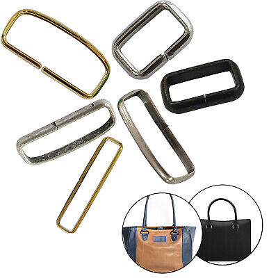 Non Welded Rectangle Metal Loop Rings for Webbing Belt Straps Bags Leather Craft