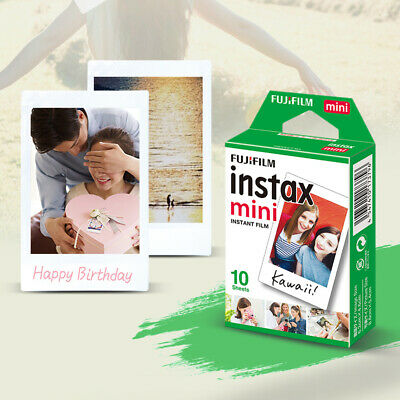 10 Scatti Fuji Instax Mini Pellicola Film Per Fujifilm Mini 7s/8/25/50/90/9 IT