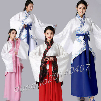 Chinese Traditional Ancient  Dance Dress Tang/Han Fairy Costume for cosplay