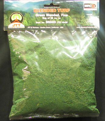 JTT SCENERY 95139 TURF DARK GREEN COURSE 30 CUBIC INCHES HO//O SCALE JTT95139