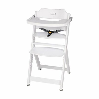 Safety 1st Timba Wooden Highchair WHITE 6Mths - 10 Yrs