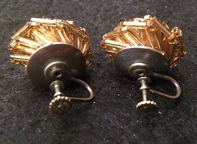 RARE ANTIQUE from Late 40s To 50s GERMANY - HAND CRAFTED EARRINGS