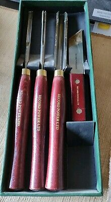 New Record Power RPCHS4 HSS woodturning  turning chisel set