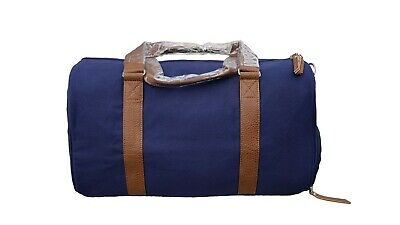 Duffle Bag For Travel Gym Sports with Shoe Compartment - Navy Canvas - 34L 1695d0b2ed921