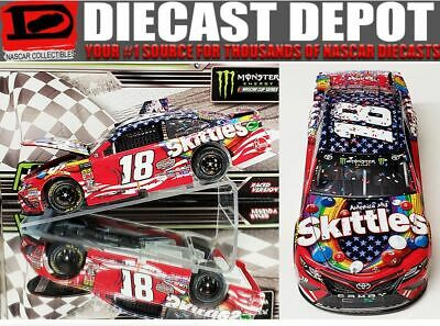Kyle Busch 2018 Chicago Win Raced Version Red White, & Blue Skittles 1/24 Action