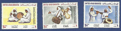 United Arab Emirates Uae Mnh 1992 Traditional Musical Instruments Music