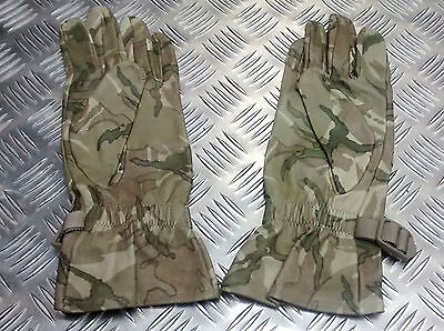 Genuine British Military MTP Multi Camo Leather Combat Gloves - All Sizes - ODDS
