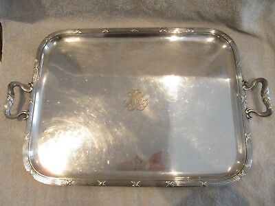 early 20th c french silverplate serving tray Odiot Louis XVI st