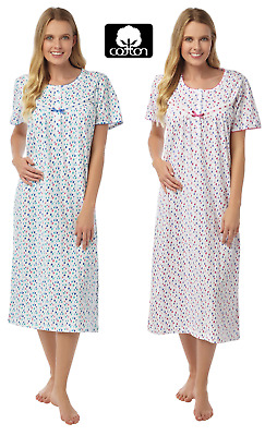 Ladies Abstract Spot 100% Cotton Short Sleeve Nightdress By Marlon Size: 8 > 26