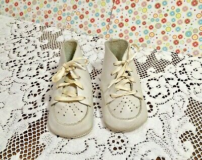 Vintage Leather Chapmans Baby Shoes