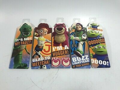 (5) Disney Toy Story 3 Movie Bookmarks Buzz Rex Lotso Alien Jessie - NEW!