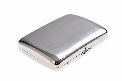 High-grade Stainless Steel Cigarette Case, 1920s style, holds 16 cigarettes,
