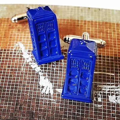 Unique! DOCTOR WHO CUFFLINKS  sci fi TARDIS police box SCIENCE FICTION cool GIFT