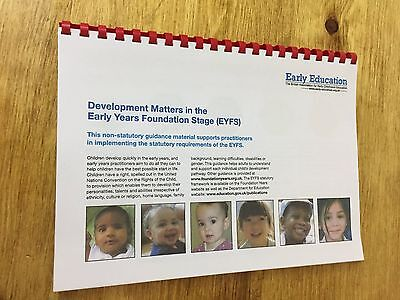 120gsm EYFS Development Matters in the Early Years Foundation Stage