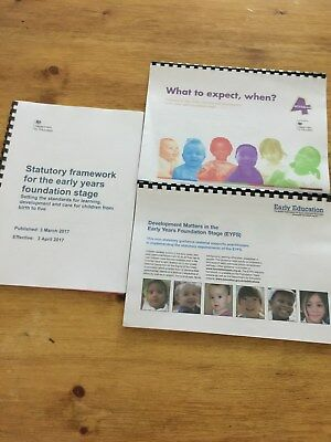 EYFS Development Matters, Statutory Framework and What to Expect, when? Pack