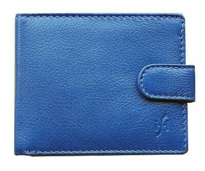 StarHide Royal Blue RFID Blocking Men's Wallet Genuine Top Grain Leather Trifold