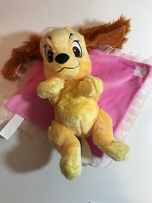 Disney Parks Baby Plush Lady Tramp Dog Puppy Blanket Stuffed Animal Toy