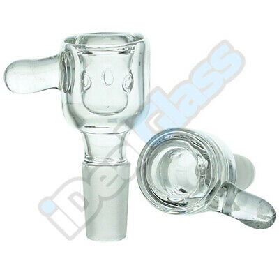 Clear Glass on Glass Slide Bubble Bowl   14 - 18mm