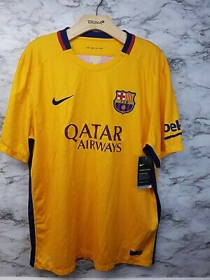 a69632811 FC Barcelona Nike Spain Orange Rare Soccer Authentic Jersey Size XL 2015  New 90