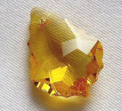10 ct FACETED TREE 22X16X5 mm YELLOW CITRINE LOOSE GEMSTONE PENDANT CHARM Y4