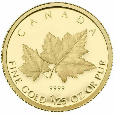 Maple Leaves - 2009 Canada 50 Cents - 1/25th oz. Gold Coin