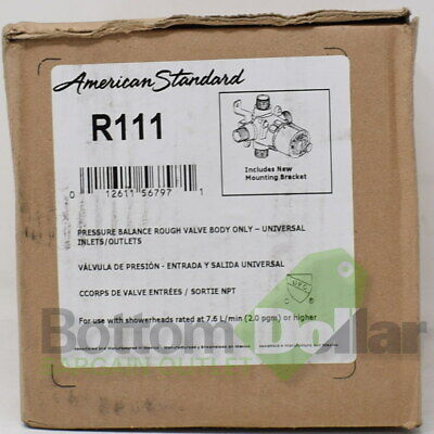 American Standard Pressure Balance Rough Valve Body Universal Inlets/Outlets