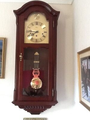 Rapport Mahogany Wall Clock -Westminster Chimes - Hermle, Germany
