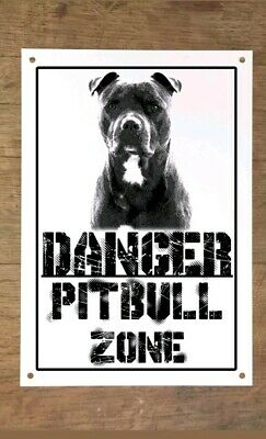 Danger PITBULL zone Targa cartello metallo attenti al cane metal sign