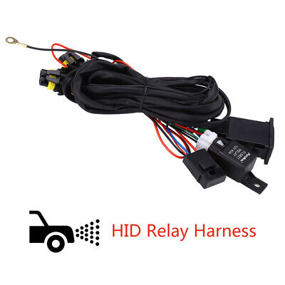 CAR XENON HID Conversion Kit Light Relay Wiring Harness 9006 ... on