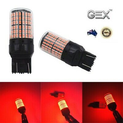 New 2pc T20 7443 144 Red LED Canbus No Error Stop Tail Brake Light Bulbs Bright