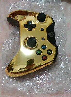 Custom Microsoft Xbox One Wireless Controller  Chrome Gold
