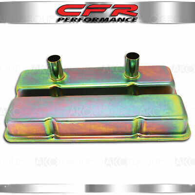 For SB Chevy 283-350 Racing Power Company R9216 Short Valve Cover Pair