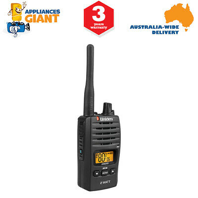 Uniden UH820S 2 Watt UHF Handheld Radio Walkie-Talkie