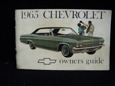 Vintage Original 1965 Chevrolet Impala/Bel Air Owners Guide Manual (February 65)