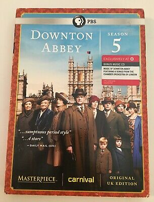 ❤️Masterpiece: Downton Abbey Season 5 + BONUS CD + SLIPCOVER - NEW!!❤️