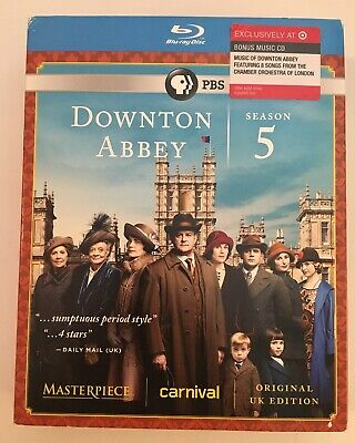 ❤️Masterpiece: Downton Abbey Season 5 [Blu-ray] + BONUS CD + SLIPCOVER - NEW!!❤️
