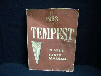 Vintage Original 1963 Pontiac Tempest Chassis Shop Manual (Copyright 1962)