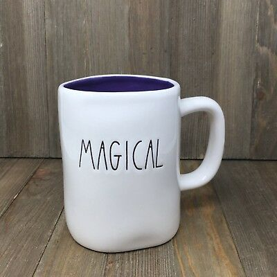 Rae Dunn Magical Mug | Purple Inside | Raedunn 2017 Halloween Collection HTF Rar