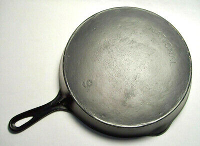 "NATIONAL (Wagner Ware) ~ Antique Cast Iron 11"" SKILLET w/Ring (#9) ~ Sidney, OH"