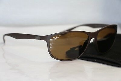 224739f488 Ray Ban Liteforce Polarized RB4213 6124 83 61 14 3P Matte Brown Sunglasses