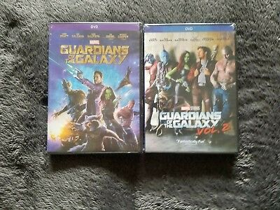 Guardians of the Galaxy 1 and 2  DVD Marvel Movie Bundle Free Shipping and New