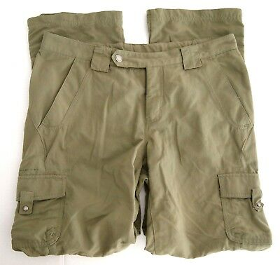 Columbia Titanium Womens Pants 10 Olive Green Convertible Zip Off Hiking Cargo