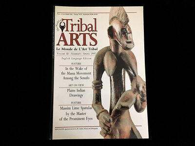 Tribal Art Magazine #13  Spring 1997  Massim Lime Spatulas Plains Indian Drawing
