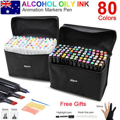 80+3 Copic Touch Dual Head Marker Pens Colors Set Artist Graphic Sketch Graffiti